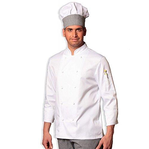 Giacca casacca cuoco chef cucina ristorante bianca divisa unisex RICAMO  GRATIS!  Amazon.it  Abbigliamento 74c109dc7078
