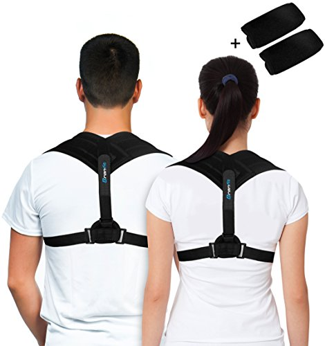 Premium Back Support Brace   Posture Corrector For Men   Women  An Ultimate Solution For Kyphosis  Shoulder Support  High Back   Neck Pain Relief  With A Bonus Of Underarm Pads By Branfit