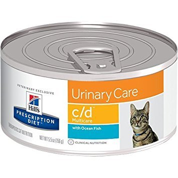 Hills Prescription Diet c/d Urinary Care with Ocean Fish Canned Cat Food 24/5.5 oz by Hill's Pet Nutrition