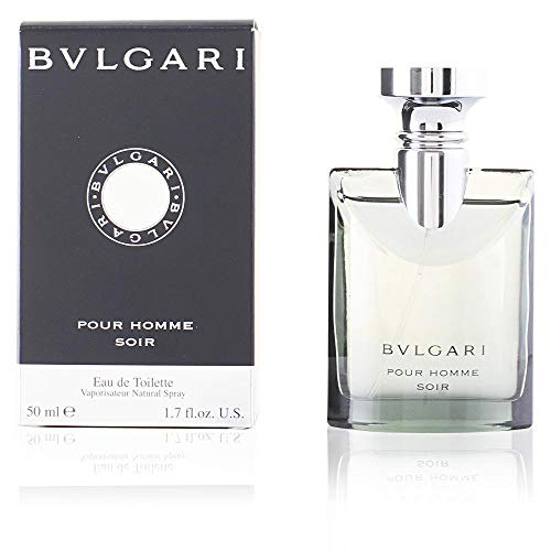 Bvlgari Pour Homme Soir for Men | Eau de Toilette | Rich, Elegant, Woody Scent | Fragrance Notes of Papyrus, Amber, Darjeeling Tea, and Bergamot | 50 mL / 1.7 fl oz (1.7 Ounce Edt Cologne)