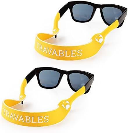 Travables Eyewear Retainer, Floating Neoprene Sunglass and Glasses Holder Straps