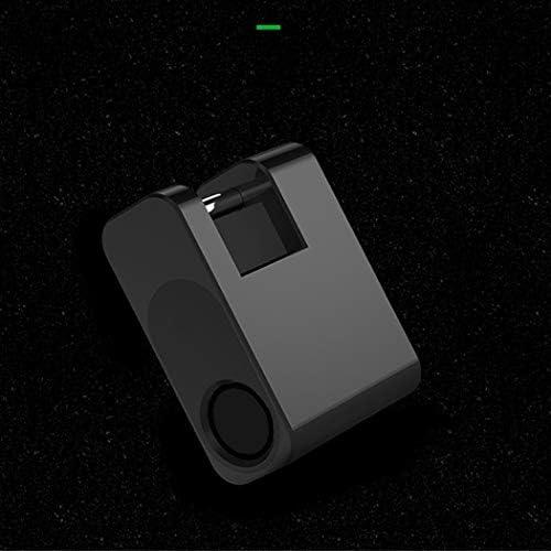 スマート南京錠荷物ロックミニ南京錠トロリーケーストラベルバッグロックバッグロックAPPロック (Color : Black)