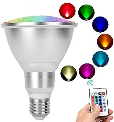 2 Unids E27 10W RGB Bombillas LED que cambian de color, Proyector ...