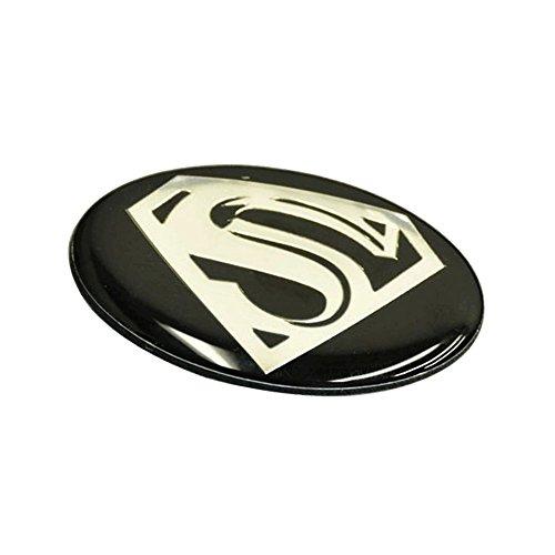 Emblem Compatible With 2005-2010 Chrysler 300 | VIP Front Center Grille Grill New Black Super S Logo Emblem Badge by IKON MOTORSPORTS | 2006 2007 2008 2009