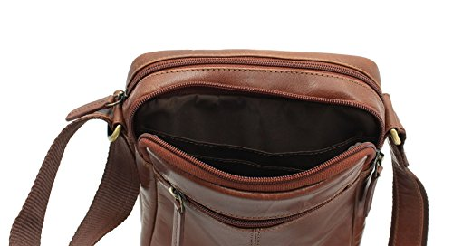 Tan S8 Compact Bag Travel Messenger Oil Visconti Leather Brown wS1qH78