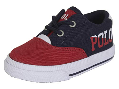 Polo Ralph Lauren Kids Unisex Vaughn II (Toddler) Navy/Red/White Sailing Print Canvas 10 M US Toddler