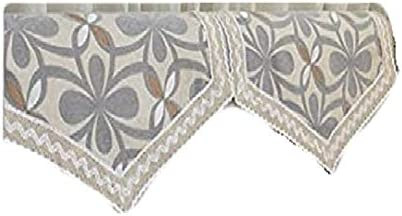 Octorose Chenille Lace Sofa Back Covers (Grey, 2pc-24x35