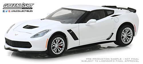 Greenlight 18250 1: 24 2019 Chevrolet Corvette Z06 Coupe - Arctic White - New Tooling - Coupe Scale 24 Corvette