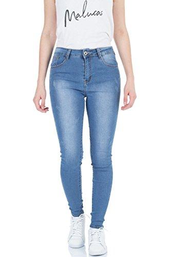 malucas Jeans Bleu Skinny Femme Bleu bleu rrCHfw4xq