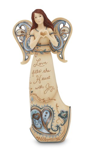 Perfectly Paisley Love Fills The Heart Angel Figurine by Pavilion, 7-1/2-Inch Tall, Love Fills The Heart with Joy ()