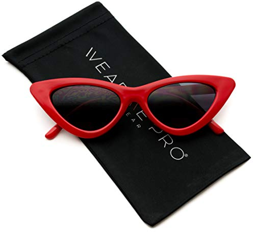 (WearMe Pro - Retro Vintage Tinted Lens Cat Eye Sunglasses)