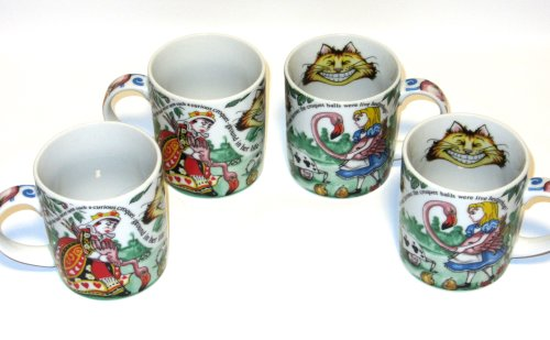 Paul Cardew, Alice in Wonderland, 12oz. Mug Set/4 by Paul Cardew Design