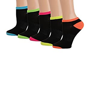 Women's Low Cut Sport Socks for Active Peformance and Running (9-11, Black Assortment)