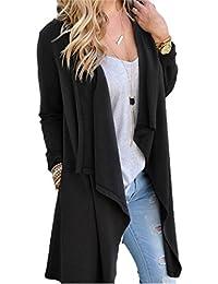 Women's Long Sleeve Drape Open Front Cardigan Sweater