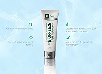 Biofreeze Professional Pain Relieving Gel, Enhanced Relief of Arthritis, Muscle, Joint, and Back Pain, NSAID Free Pain Reliever Cream for Sore Muscles, 4 oz. Tube, Colorless Formula, 5% Menthol