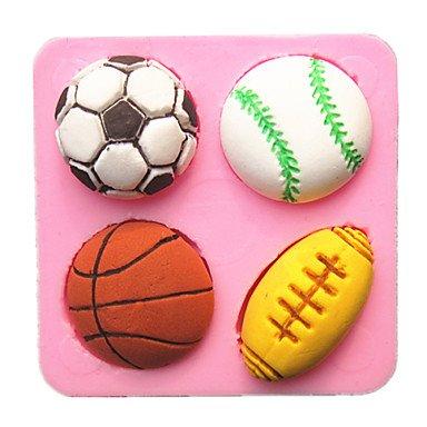 baloncesto fútbol fútbol tenis pelota fondant moldes de la torta ...