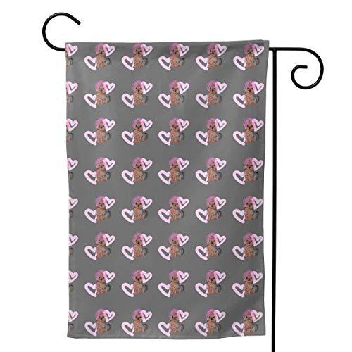 QG ZZX Pink Puppy Yorkshire Terrier Garden Flag