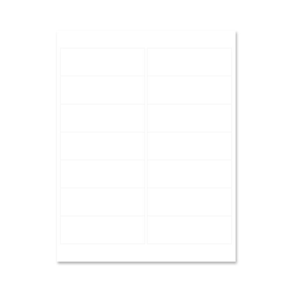 PDC Healthcare LS1267 Chart Labels Laser, Portrait, 4'' x 1 1/3'', 14 per Sheet, White (Pack of 100)