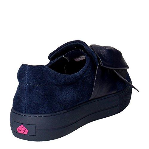 Fornarina PIFYM9608WSA1100 Slip-on Zapatos Mujer Gamuza Azul Blue