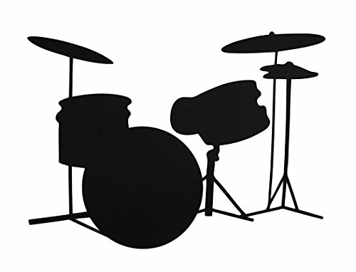 Drums Chalkboard Peel and Stick Wall Decal