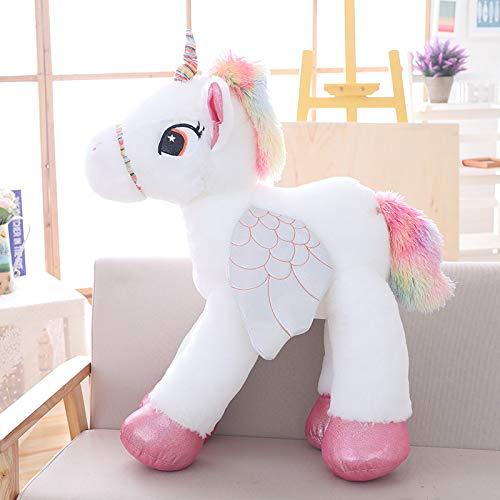 WATOP Stuffed Animals - Teddy Bears | vanmajor 60/90/120cm Large Licorne Cute Pink Blue White Unicorn Doll Plush Toy Stuffed Unicornio Animal Girl Birthday Gift (white-120cm)