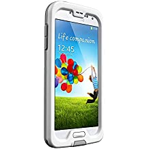 LifeProof FRE Samsung Galaxy S4 Waterproof Case - Retail Packaging - WHITE/GREY (Discontinued by Manufacturer)