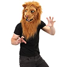 elope Mouth Mover Lion Costume Mask For Adults