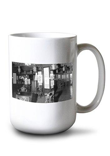 Lantern Press Seattle, Washington - Interior of Chinese Room and Observatory, Smith Tower # 2 (15oz White Ceramic Mug)