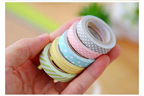 outflower 5/x Nastro adesivo decorativo colori di caramella DIY Adesivi nastro Rainbow