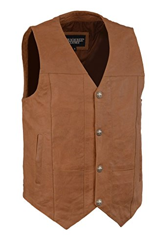 Men's Western Style Vest w/ Buffalo Snaps & Interior Gun Pockets (XXX-Large, (Western Vests)