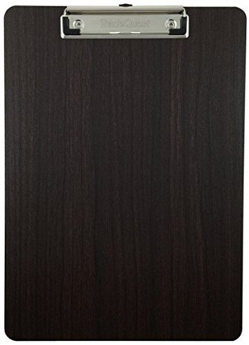 Clipboard Dark Grain Fiberboard With Vinyl Surface (1-Pack)