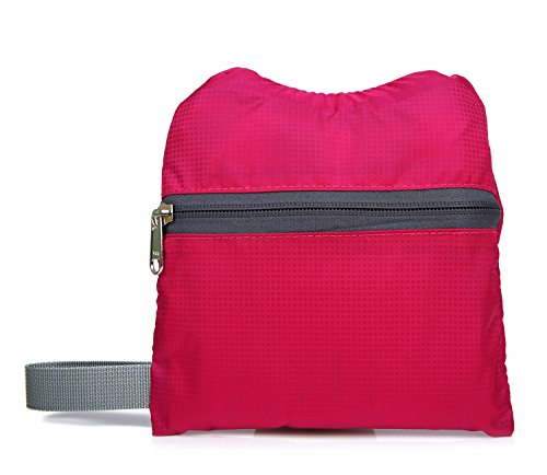 X2X Mochila plegable Ultraligero al aire libre Mochila portátil unisex para caminar (Negro) Rojo