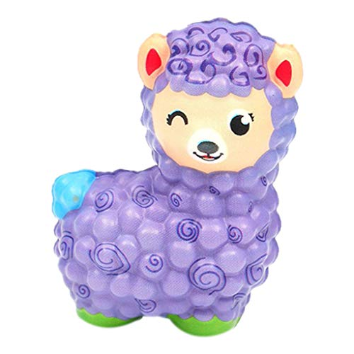 OrchidAmor New Jumbo Sheep Stress Reliever Scented Super Slow Rising Kids Squeeze Toy Purple -