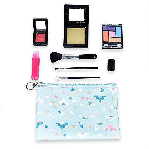 Tokia Girls Pretend Makeup Kit, Kids Play Makeup Set with Cosmetic Bag