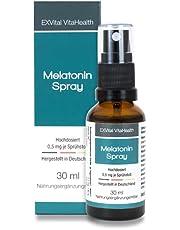Melatoninspray, flytande melatonin med lavendelextrakt & vitamin B6-0,5 mg melatonin per sprayspruta, 30 ml sprayflaska med omedelbar effekt – hög doserad och tillverkad i Tyskland