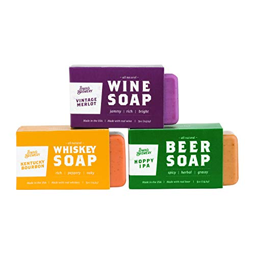 Boozy Soap 3-Pack (Hoppy IPA + Kentucky Bourbon + Vintage Merlot) (Wine Herbal Merlot)
