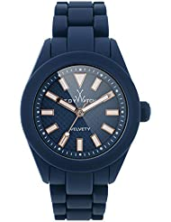 ToyWatch LADY VELVETY Blue Womens Watch VVL03BL Small Silicone Analog