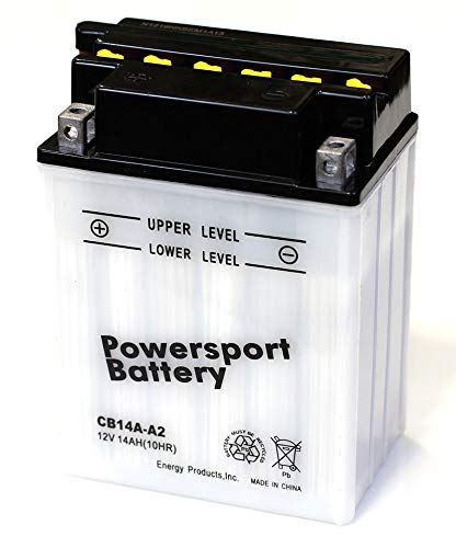 Replacement Powersport Battery YB14A-A2 - 12 Battery Four Volt Wheeler