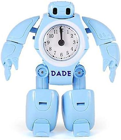CUHAWUDBA Reloj Despertador Robot para Ni?Os Reloj de Juguete para Ni?Os Robot de DeformacióN Relojes de Mesa Reloj de Escritorio de Dibujos nimados para Estudiantes Regalo para Ni?Os: Amazon.es: Hogar