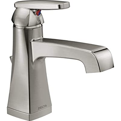 Delta 564-MPU-DST Ashlyn Single Hole Bathroom Faucet with Pop-Up Drain Assembly,