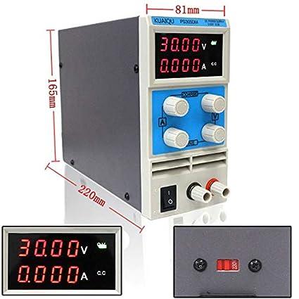 Utini KUAIQU Mini DC Power Supply PS305DM 60V 5A Switching Laboratory Digital Variable Adjustable DC Power Supply 0-60V 0-5A PS305DM - Brand: New, Color: PS605D 60V 5A