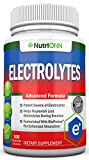 Electrolytes - 100 Natural Electrolyte Replacement Capsules - Premium Keto Friendly Pills - No Sugar - Great for Hydration, Recovery and Hangovers - Trace Minerals Potassium, Magnesium, Sodium Salts
