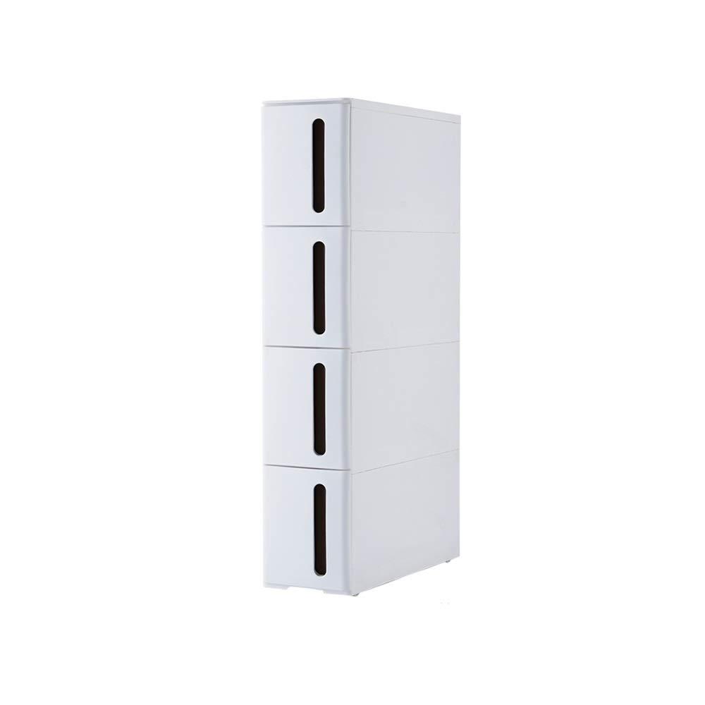LJJL 狭いトロリー、台所および浴室のためのローラーのレバークランプ狭いコーナーの収納棚 B07TDK1YX7