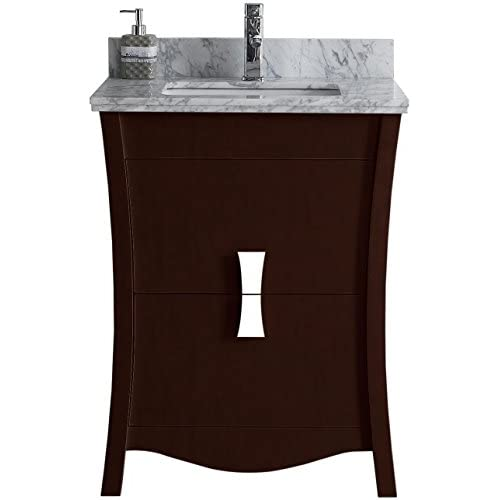 "free shipping Jade Bath JB-18213 23.54"" W x 18.03"" D Birch Wood-Veneer Vanity Set, Coffee"