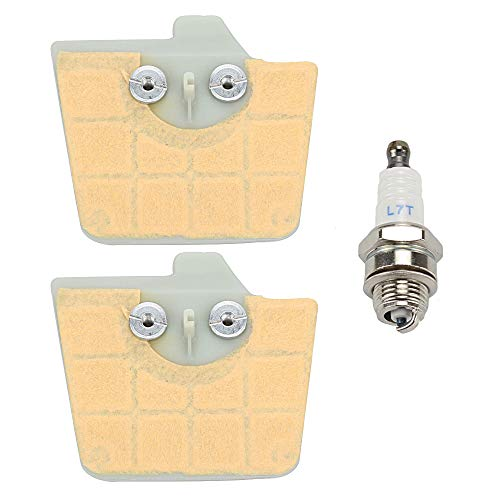 Mckin (Pack of 2 Air Filter with Spark Plug fits STIHL 034 036 MS340 MS360 Chainsaw Parts