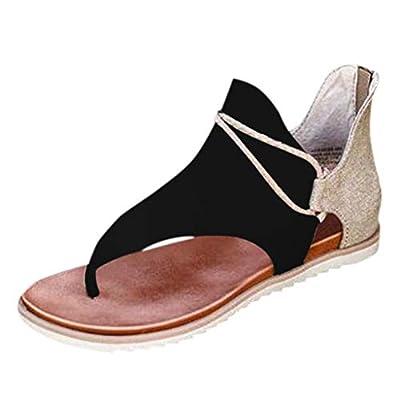 Flip Flop Sandals for Women, Women Super Posh Gladiator Comfy Sandals Casual Vintage Sandals with Zipper: Clothing