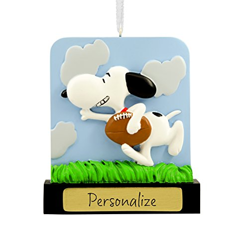 Hallmark DIY Personalized Christmas Ornament Peanuts Snoopy Football, Snoopy Football, Snoopy Football]()