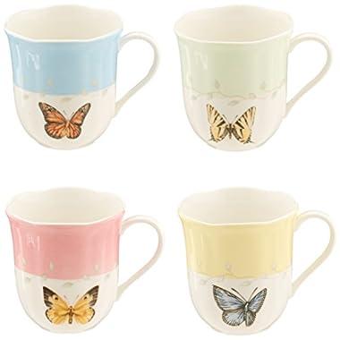 Lenox Butterfly Meadow Mugs, Set of 4