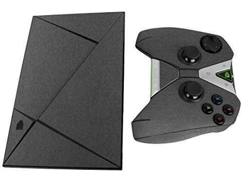 Skinomi® TechSkin - NVIDIA Shield TV + Controller Brushed Steel Full Body Skin Protector with Free Lifetime Replacement Warranty / Front & Back Wrap / Premium HD Clear Film / Ultra High Definition Invisible and Anti-Bubble Crystal Shield - Retail Packaging by Skinomi
