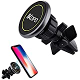 IKOPO Magnetic Phone Holder for Car Air Vent,Car Phone Mount Suitable for iPhone X 8/7/7Plus/6s/6Plus/5S,Samsung Galaxy S8 Edge S7 S6 Note 5,Nexus 6,Google Nexus,LG,Huawei and More Smartphone(Yellow)
